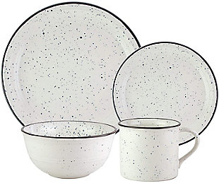 American Atelier Speckled Black/White 16-Piece Set, , rollover