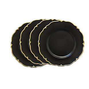Elle Décor Set of 4 Scalloped Charger Plates, , large