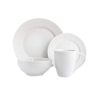 Elle Décor Chloe Porcelain 16-Piece Dinnerware Set, , large