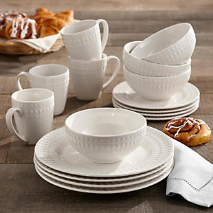 Elle Décor Amelie Porcelain 16-Piece Dinner Set, , rollover