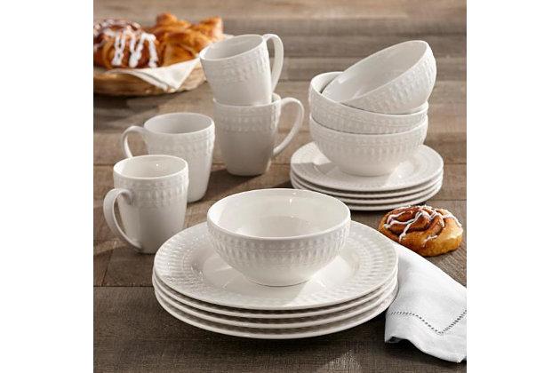 Elle Décor Amelie Porcelain 16-Piece Dinner Set, , large