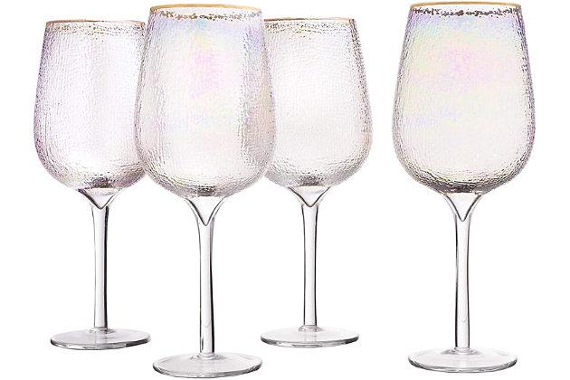 Elle Décor Celine Set of 4 Goblets, , large