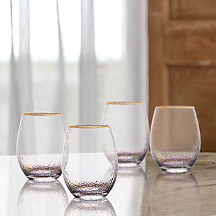 Elle Décor Celine Set of 4 Stemless Goblets, , rollover