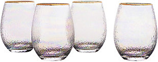 Elle Décor Celine Set of 4 Stemless Goblets, , large