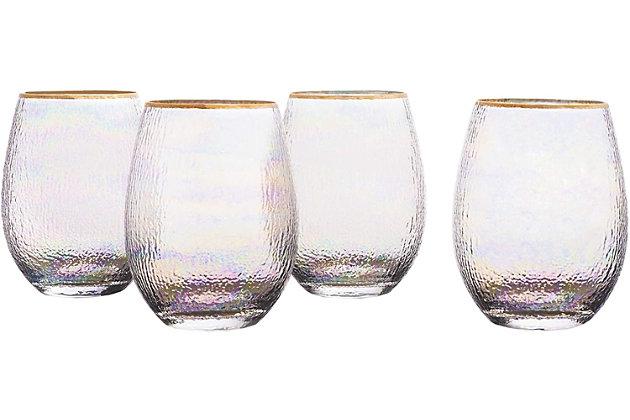 Elle Décor Celine Set of 4 Stemless Goblets, , large