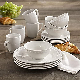 Elle Décor Monique Porcelain 16-Piece Dinner Set, , rollover