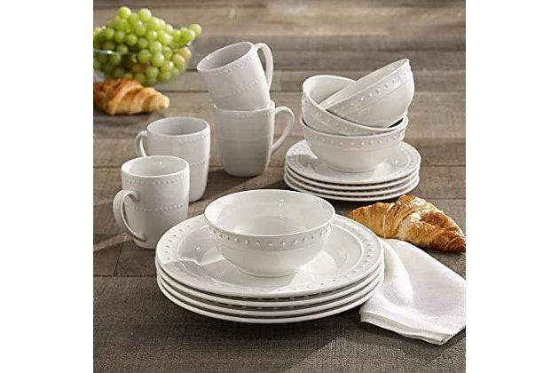 Elle Décor Monique Porcelain 16-Piece Dinner Set, , large