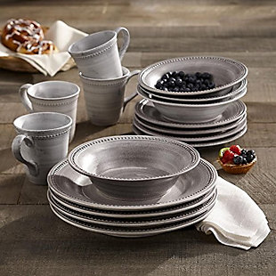 Elle Décor Stone 16-Piece Dinner Set, , rollover