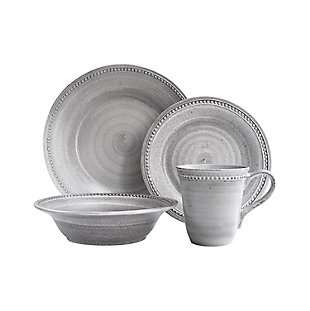 Elle Décor Stone 16-Piece Dinner Set, , large