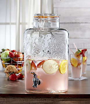 Elle Décor Style Setter Vineyard Fruit Beverage Dispenser 2.5 Gal, , rollover