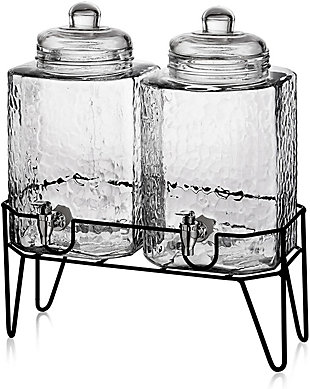 Elle Décor Style Setter Hamburg Set/2 Dispensers with Stand, , large
