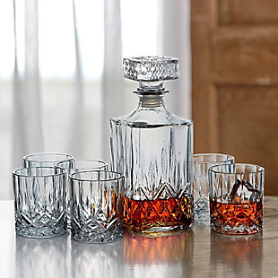 Elle Décor Kentucky 7-Piece Whiskey Set, , rollover