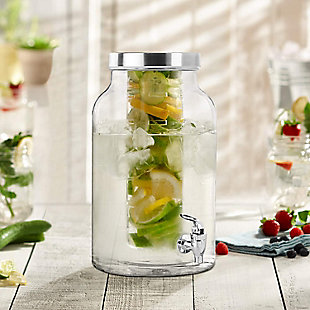 Elle Décor Stylesetter Lexington Beverage Dispenser with Infuser, , rollover