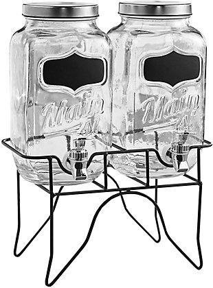 Elle Décor Style Setter Main Street Blackboard Set/2 Dispenser, , large