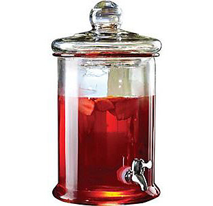 Elle Décor Style Setter Norfolk Glass Beverage Dispenser, , large