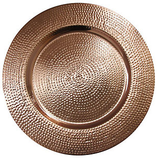 American Atelier Hammered Silver Set of 4 Charger Plate, Metallic, large