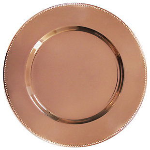 American Atelier Beaded Silver Set of 4 Charger Plate, Metallic, large