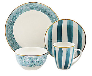 Elle Décor Juillet 16-Piece Dinnerware Set, , large