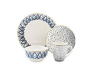 Elle Décor Marielle 16-Piece Dinnerware Set, , large