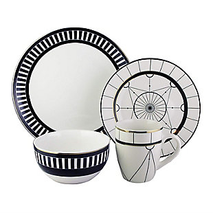 Elle Décor Compass 16-Piece Dinnerware Set, , large