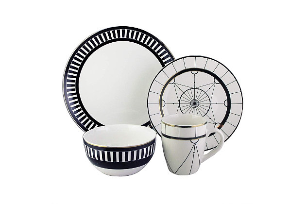 Elle Décor Compass 16-Piece Dinnerware Set, , large