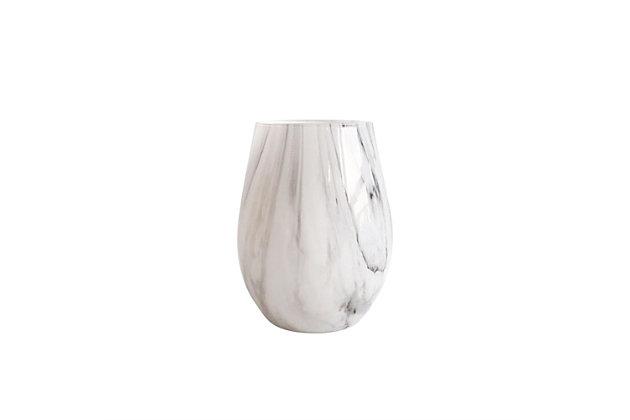 Elle Décor Marble Gray Goblets Set of 4, , large