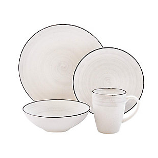 Elle Décor Whitestone 16-Piece Dinnerware Set, , large