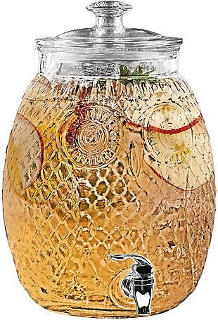 Elle Décor Style Setter Owl Beverage Dispenser 2.32 Gal, , rollover