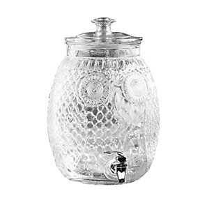 Elle Décor Style Setter Owl Beverage Dispenser 2.32 Gal, , large