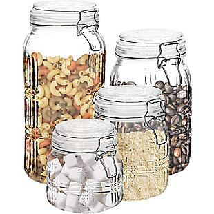 Elle Décor Style Setter Portland Square Set of 4 Canisters, , rollover