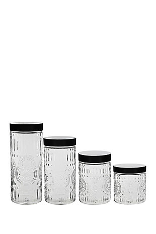 Elle Décor Style Setter Medallion Round Set of 4 Canisters, , large