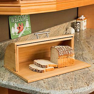 Home Accents Bamboo Bread Box, , rollover