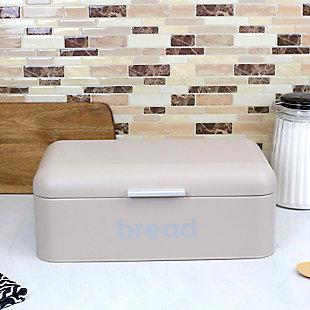 Home Accents Metal Bread Box, Stone, , rollover