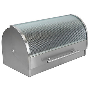Home Accents Stainless Steel Bread Box, , large