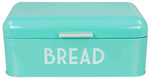 Home Accents Metal Bread Box, Turquiose, Turquoise, large