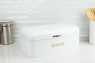Home Accents Grove Bread Box, White, , rollover