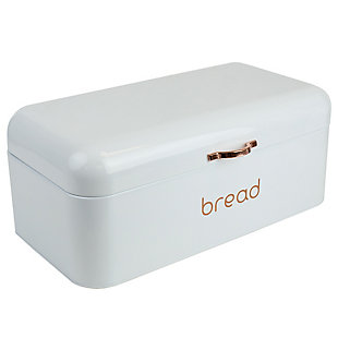 Home Accents Grove Bread Box, White, , large
