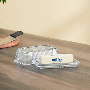 Home Accents Glass Butter Dish, , rollover