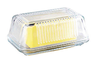 Home Accents Glass Butter Dish, , large