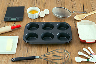 Home Accents Non-Stick 6 Cup Muffin Pan, , rollover