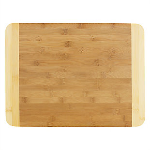 Home Accents Large Dual Tone Bamboo Cutting Board, Natural, , large