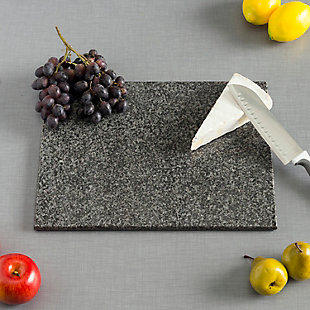 "Home Accents 8"" x 12"" Granite Cutting Board, Black, Black, rollover"