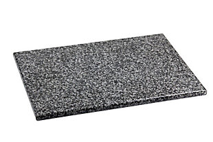 "Home Accents 8"" x 12"" Granite Cutting Board, Black, Black, large"