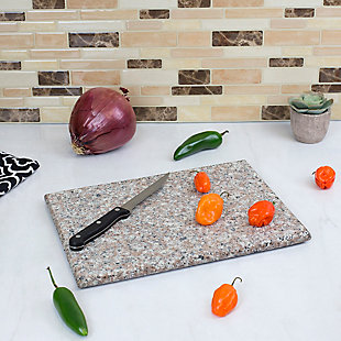 "Home Accents 8"" x 12"" Granite Cutting Board, Brown, , rollover"