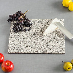 Home Accents 8 x 12 Granite Cutting Board, White, White, rollover