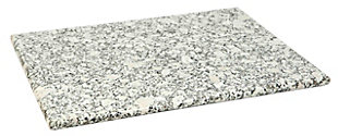 Home Accents 8 x 12 Granite Cutting Board, White, White, large