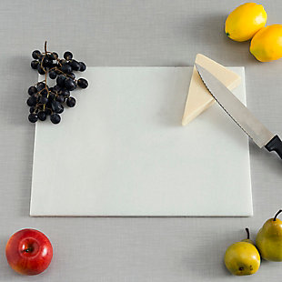 "Home Accents 12"" x 16"" Marble Cutting Board, White, , rollover"