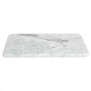 Home Accents Multi-Purpose Pastry Marble Cutting Board, White, White, large