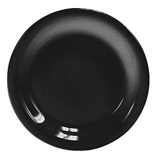 """Home Accents 10.5"""" Ceramic Dinner Plate, Black, , large"""