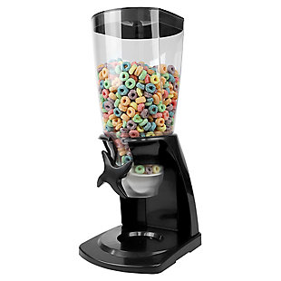 Home Accents 7.5 Oz. Capacity Plastic Single Canister Cereal Dispenser, Black, , large